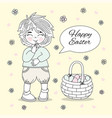 easter boy great religious holy holiday cartoon vector image vector image