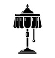 electric lamp icon simple style vector image vector image