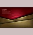 elegant red and gold modern background vector image vector image