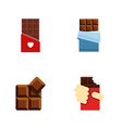 flat icon sweet set of chocolate shaped box vector image vector image