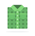 folded green mens shirt flat isolated vector image vector image