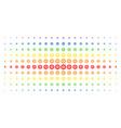 gear spectral halftone array vector image vector image