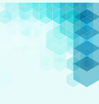 Geometrical hexagons blue background element of