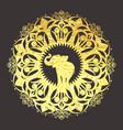 Golden foil mandala ornament