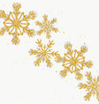 golden glitter snowflakes greeting card vector image vector image
