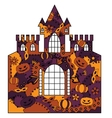 Halloween castle colorful vector image vector image