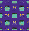halloween seamless pattern with ghost and axe on vector image vector image