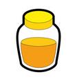 honey bottle icon vector image vector image