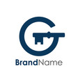 initial g building construction hotel logo vector image vector image