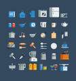 kitchen utensils icons set vector image vector image