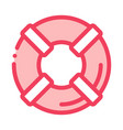 lifebuoy canoeing icon vector image vector image