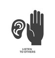 listen to others glyph icon vector image