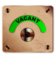 loo vacant indicator vector image vector image
