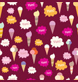 lovely ice - cream cones seamless background vector image vector image