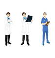Medical Staff Man Full Body Asian Color vector image