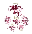 mothers day greeting card calligraphy vector image vector image