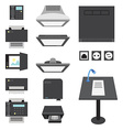 Office and Presentation Icons vector image vector image