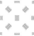open glass fridge pattern seamless vector image vector image