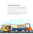 poster of transport services vector image