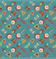 purim holiday flat design icons seamless pattern vector image
