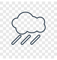 rain concept linear icon isolated on transparent vector image