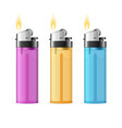realistic 3d detailed color lighter set vector image