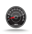 realistic speedometer vector image