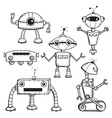 Robots collection vector | Price: 1 Credit (USD $1)