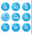 sale blue stickers collection vector image vector image