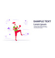 santa claus boxer practicing thai boxing exercises vector image