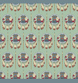 seamless native american pattern with shields and vector image vector image