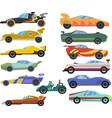 set cartoon racing cars vector image