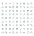 set flat line business icons flat line concept vector image vector image