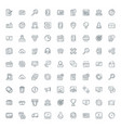 set of flat line business icons flat line concept vector image vector image