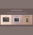 set of laptop tablet and mobile phone vector image