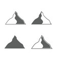 set of monochrome forms of mountains vector image vector image