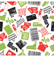 shopping icons color pattern eps10 vector image