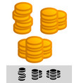 simple coin chip vector image