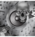 Speaker skull and electric guitar