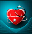 stethoscope medical equipment heart shape vector image