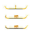 thailand royal barge procession flat design vector image vector image