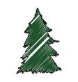 tree pine christmas vector image vector image