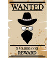 vintage western wanted poster vector image vector image