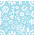 winter seamless snowflake background vector image