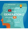 generation z connected vector image