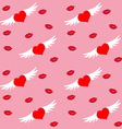 Hearts and Wings vector image