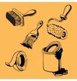 Hand drawn Painting Tools Supplies vol1 vector image