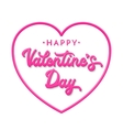 3d letters Happy Valentines day vector image vector image