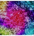 Abstract bright multicolor mosaic background vector image vector image