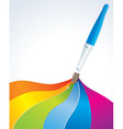 artistic rainbow background vector image vector image